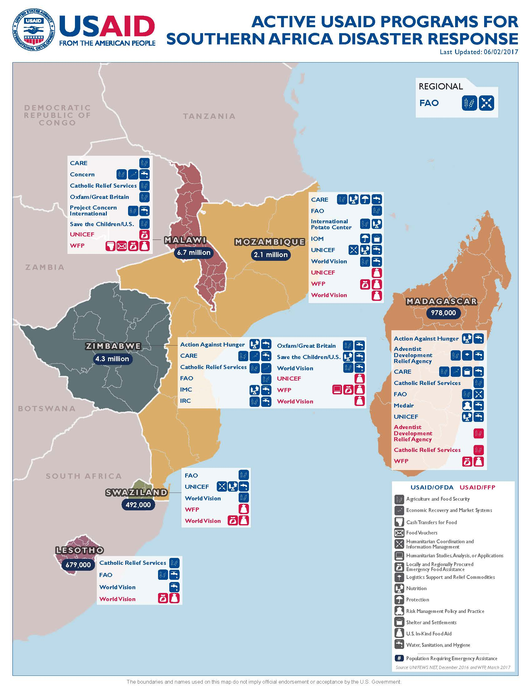 060217 Usaid Dcha Southern Africa Disaster Response Program - Us-disaster-map