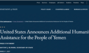 United States Announces Additional Humanitarian Assistance for the People of Yemen