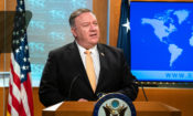 Pompeo speaking to Press