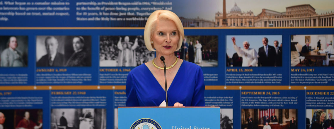 Remarks by Ambassador Gingrich at the Inauguration of an Exhibit for the 35th Anniversary