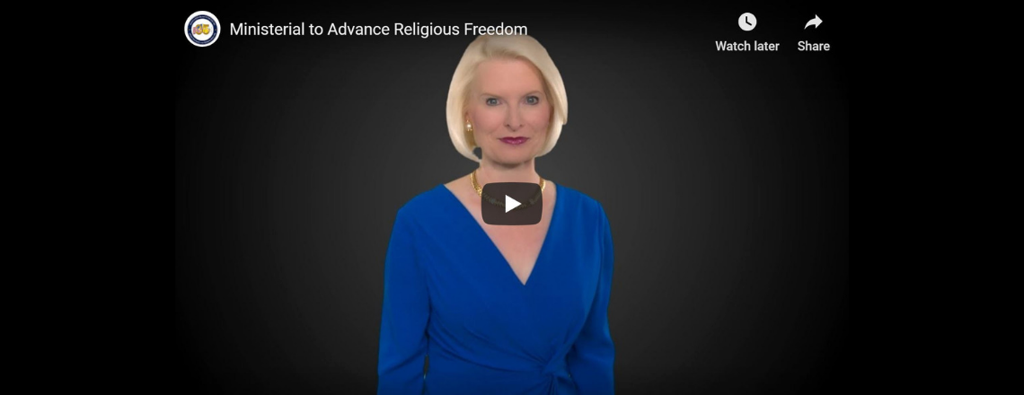 Ambassador Gingrich looks ahead to this week's Ministerial to Advance Religious Freedom