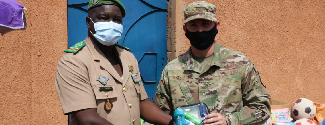 U.S. Embassy Donates $35,000 of Humanitarian Assistance Items to Armed Forces Families