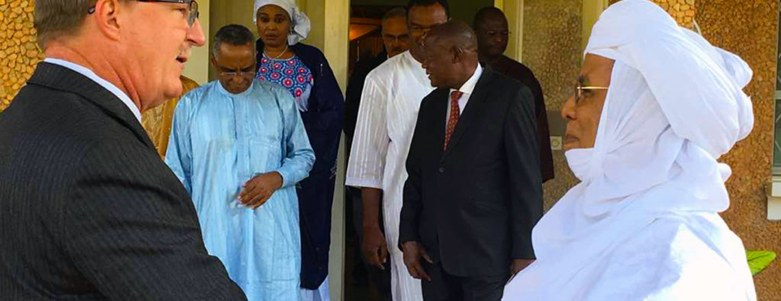 Nigerien Prime Minister Brigi Rafini Signs Condolence Book for President George H.W. Bush