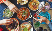 Ramadan,Iftar,Meal,Theme,People,Eating,Variety,Foods,Together,On