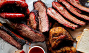 Bbq,Platter.,Barbecue,Pork,Ribs,,Brisket,,Beef,Ribs,And,Chicken