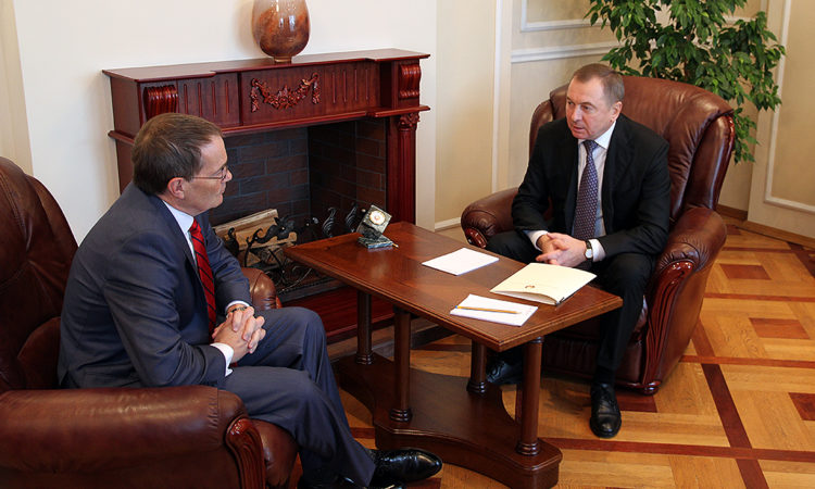 Chargé d'affaires Robert Riley Meets with Foreign Minister Vladimir Makei