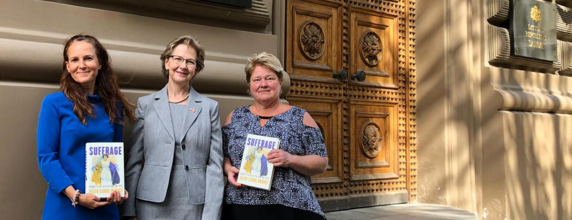 Deputy Chief of Mission Ruta Elvikis Honors Centenary of Women's Suffrage in the USA