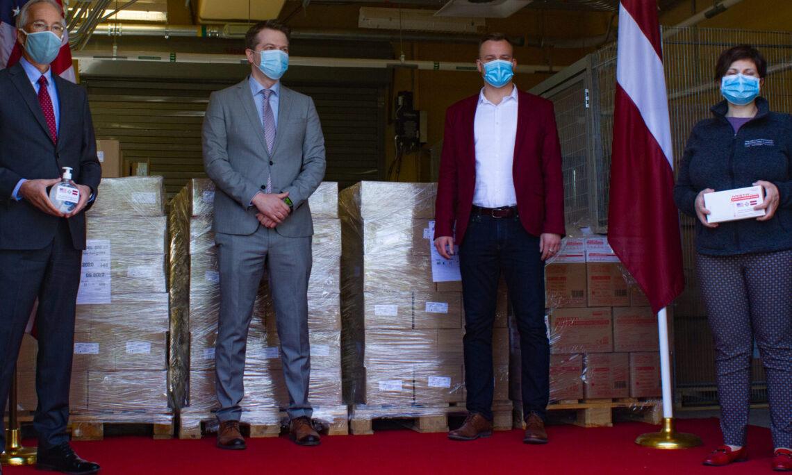 Ambassador Carwile presents donation
