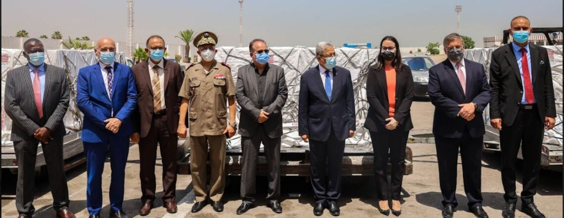 Arrival of One Million Doses of Moderna Covid-19 Vaccines Provided by the U.S. to Tunisia