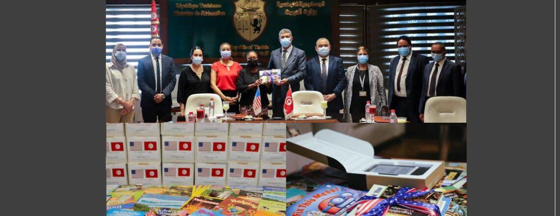 U.S. Embassy Donates 5,000 English Language Books to 52 Primary Schools Across Tunisia