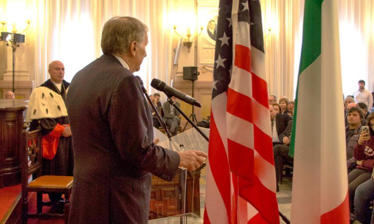 Ambassador Phillips at Sassari University