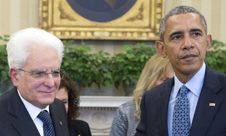 Image of Obama and Mattarella