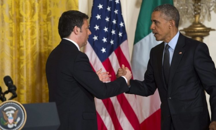 Picture of Obama and Renzi