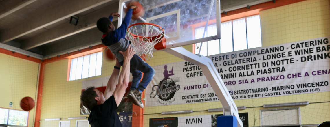NBA and WNBA stars in Naples and Castel Volturno
