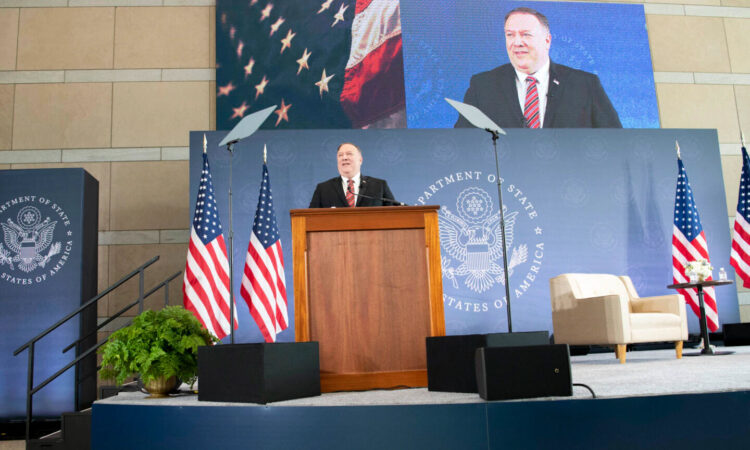 Secretary Pompeo delivering remarks