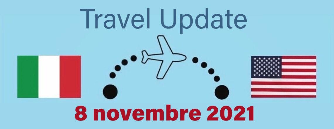 Aggiornamento delle linee guida per i viaggi negli Stati Uniti dall'8 novembre