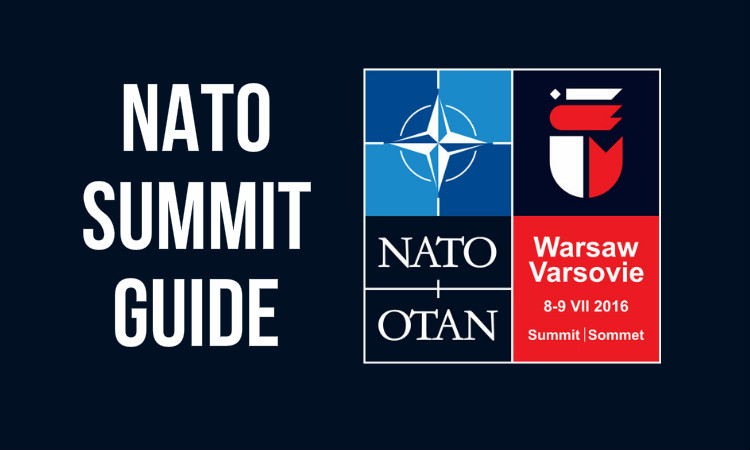 NATO Summit Guide and logo