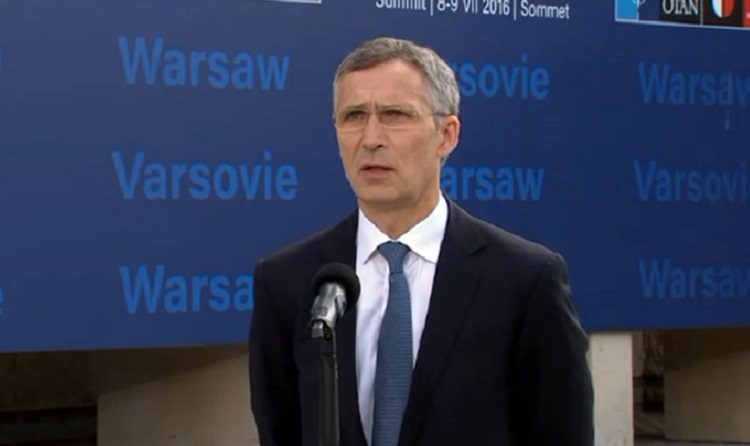 Stoltenberg talking (NATO)