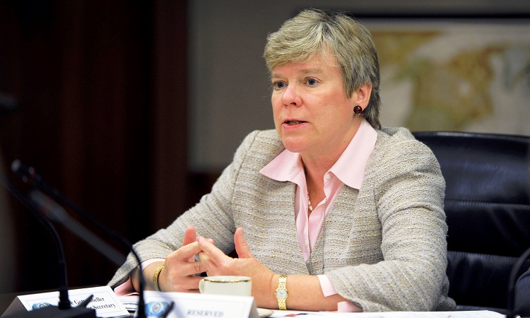 Rose Gottemoeller at table