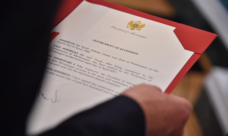 Montenegro's instrument of accession to the North Atlantic Treaty