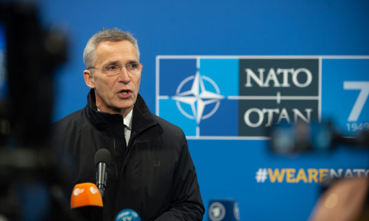 Secretary General Stoltenberg giving remarks