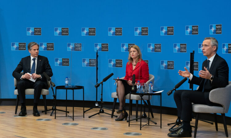 Secretary Antony J. Blinken And NATO Secretary General Jens Stoltenberg At a Moderated Conversation with Rosa Balfour