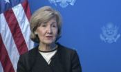 Ambassador Hutchison speaking