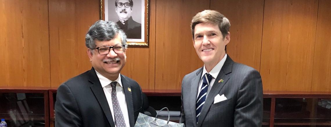 Ambassador Miller Meets with New Foreign Secretary Masud Bin Momen