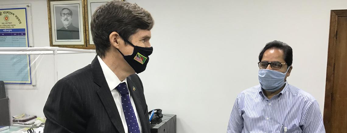 Ambassador Miller Meets with New Health Secretary Md. Abdul Mannan