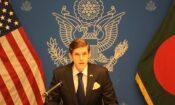 Ambassador Miller giving speech
