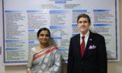 Ambassador Miller with IEDCR Director