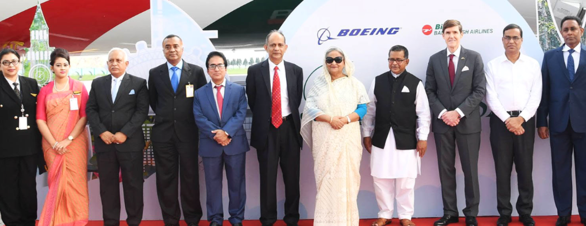 "Boeing Delivers Newest 787 Dreamliner ""Rajhangsha"" to Biman Airlines"