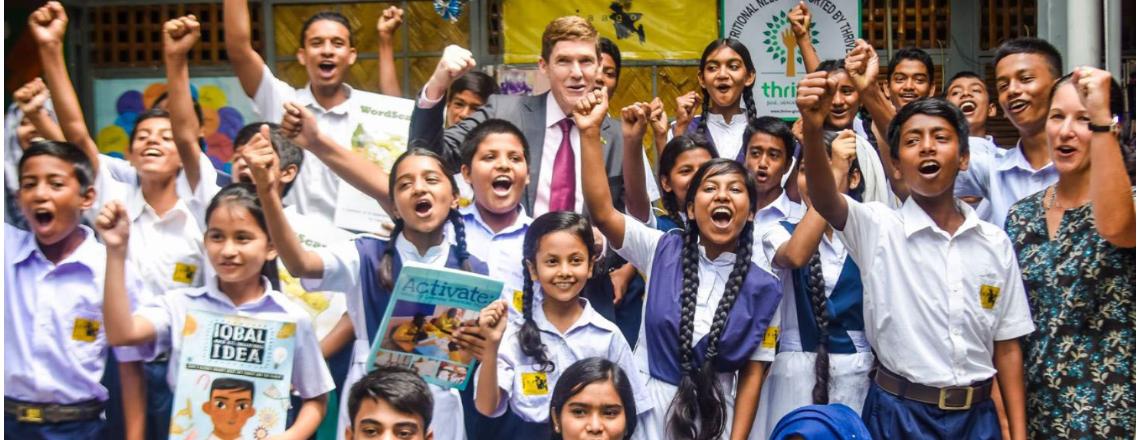 Ambassador Miller Visits JAAGO Foundation School