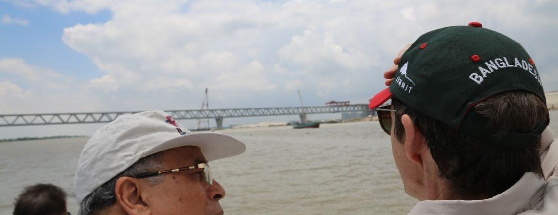 Ambassador Miller Visited the Padma Bridge Construction Site