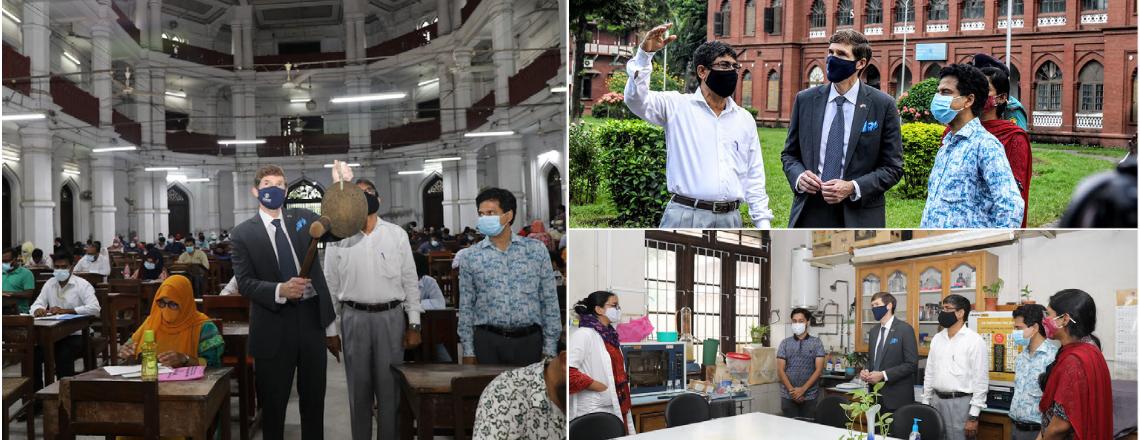 Ambassador Miller Visits Dhaka University