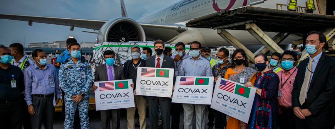 U.S. Donates One Million Pfizer Vaccines to Bangladesh through COVAX