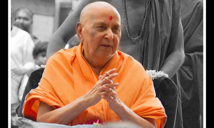 Pramukh Swami Maharaj, by Nisarg Lakhmani (CC)