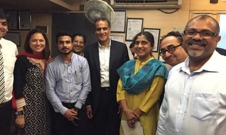 Ambassador Verma Visits a Multi-Specialty Hospital in Dharavi