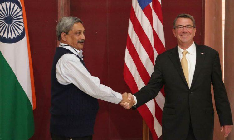 Secretary Carter with Raksha Mantri Shri Manohar Parrikar