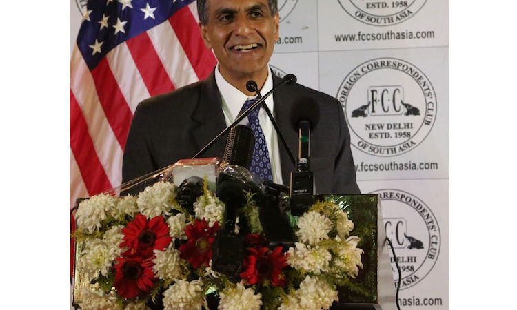 Amb Verma giving remarks