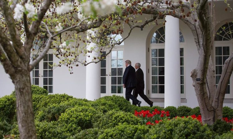 whitehouse instagram President Donald J. Trump and Vice President Mike Pence walk along the West Colonnade en route to the Oval Office at the White House in Washington, D.C.