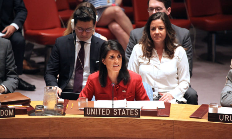 Ambassador Haley delivers remarks at an emergency UN Security Council meeting, July 5, 2017