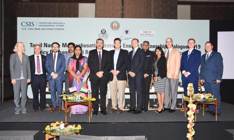 CG Burgess with Vikram Kapur at Massachusetts-Tamil Nadu Energy Partnership Dialogue