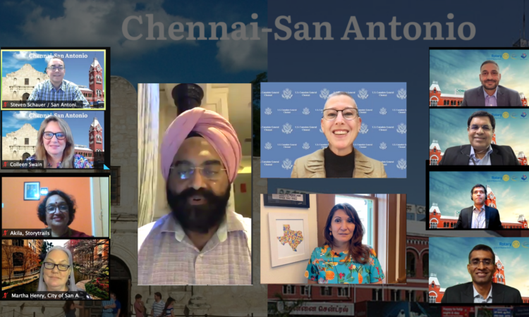 U.S. Consul General in Chennai Judith Ravin encouraged a robust sister city relationship at the Madras Week virtual presentation on historic landmarks of sister cities San Antonio and Chennai on Friday, August 20.
