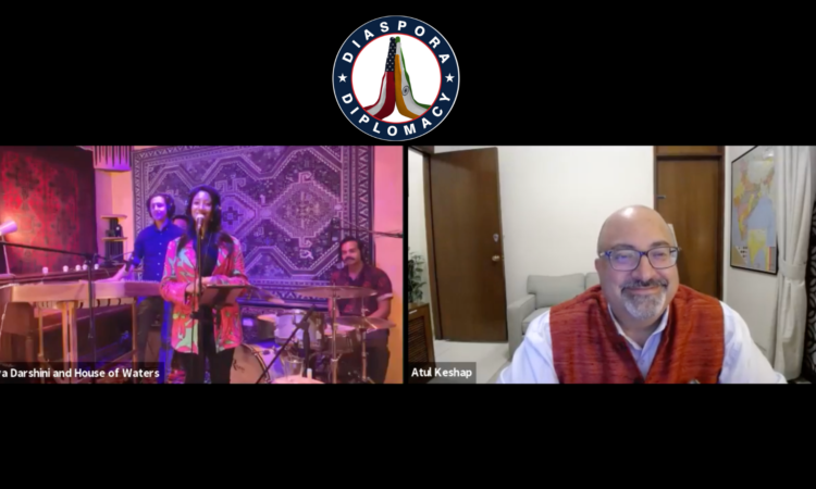 Grammy-nominated Indian American singer Priya Darshini and the House of Waters band performed live from New York on Wednesday (August 18); U.S. Mission to India Chargé d'Affaires Ambassador Atul Keshap welcomed the group as part of Mission India's #DiasporaDiplomacy series.
