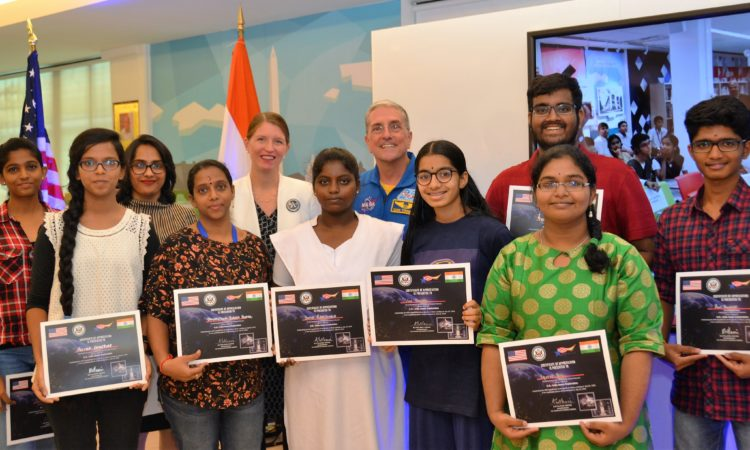 U.S. Astronaut Don Thomas inspires students at American Center in Chennai