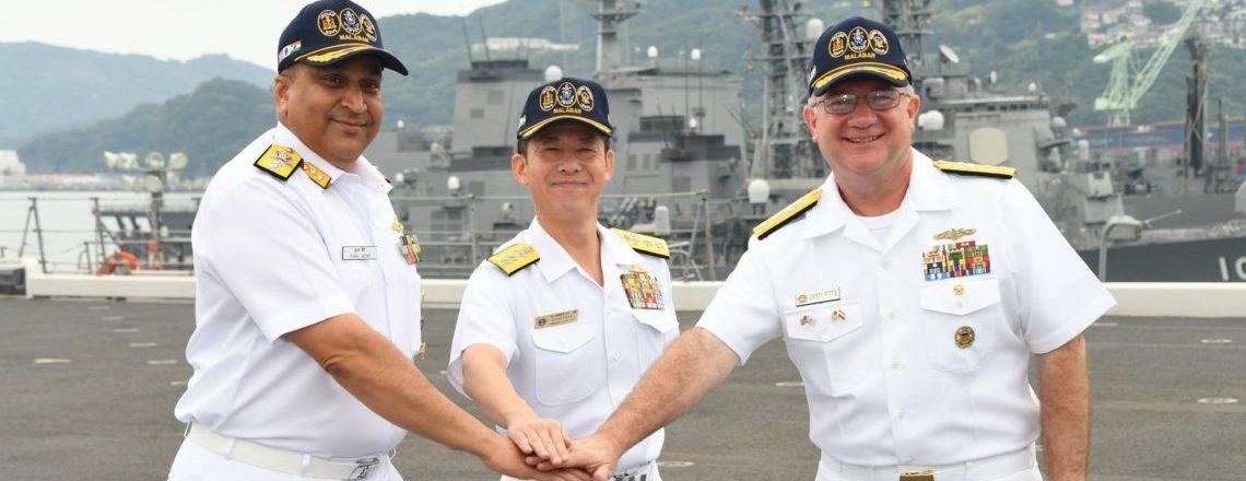 अमेरिकी, भारत और जापान ने त्रिपक्षीय समुद्री अभ्यास मालाबार शुरू किया