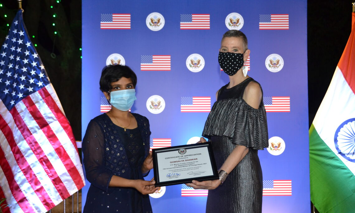 U.S. Consulate General Chennai Honors Courageous Women Who Inspire a Better World