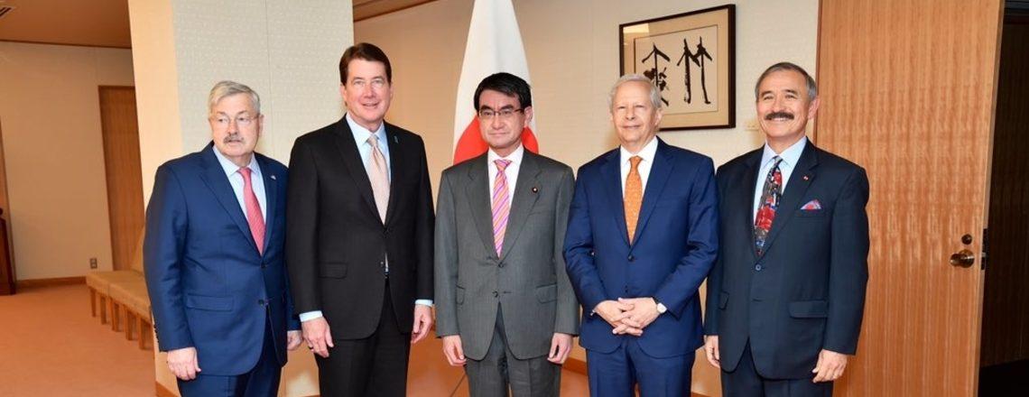 سفیر جسٹر ہند۔بحرالکاہل میں ازادانہ و منصفانہ تجارت پر تبادلہ خیال کے لئے جاپان میں ہیں