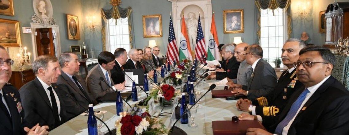 अमेरिका—भारत 2+2 मंत्रिस्तरीय वार्ता 2019